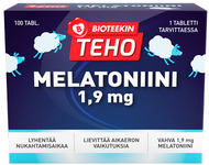 Kuva tuotteesta Bioteekin Teho Melatoniini, 100 tabl