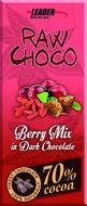 Kuva tuotteesta Leader Raw Choco Berry Mix (parasta ennen 30.09.2017)