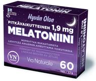 Kuva tuotteesta Hyvän Olon Pitkävaikutteinen Melatoniini 1,9 mg