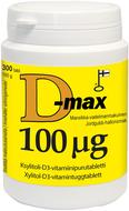 Kuva tuotteesta D-Max 100 mikrog, 300 tabl