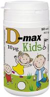 Kuva tuotteesta D-Max 10 mikrog KIDS, 90 tabl
