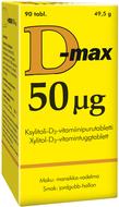 Kuva tuotteesta D-Max 50 mikrog, 90 tabl