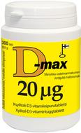 Kuva tuotteesta D-Max 20 mikrog, 300 tabl