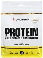 Kuva tuotteesta Nutramino Whey -heraproteiinijauhe, Suklaa-Banaani
