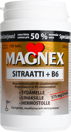 Kuva tuotteesta Magnex Sitraatti + B6-vitamiini kampanjapakkaus