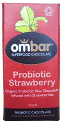 Ombar Luomu Probiotic Strawberry raakasuklaa